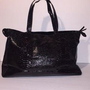 Black tote faux Crocodile BagJessica Simpson